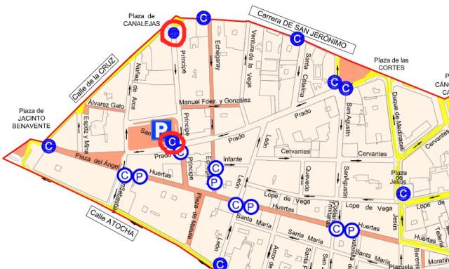 mapa santa ana parking