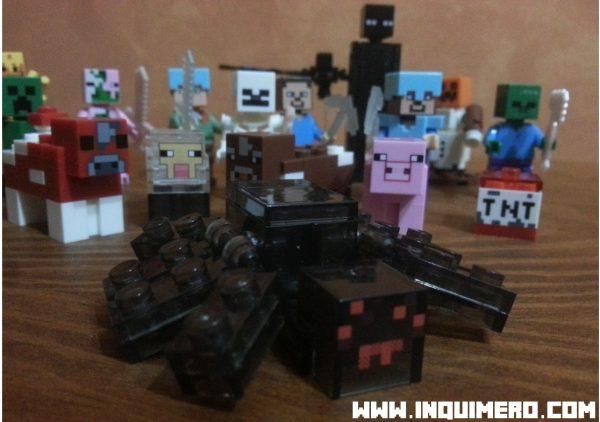 araña lego minecraft