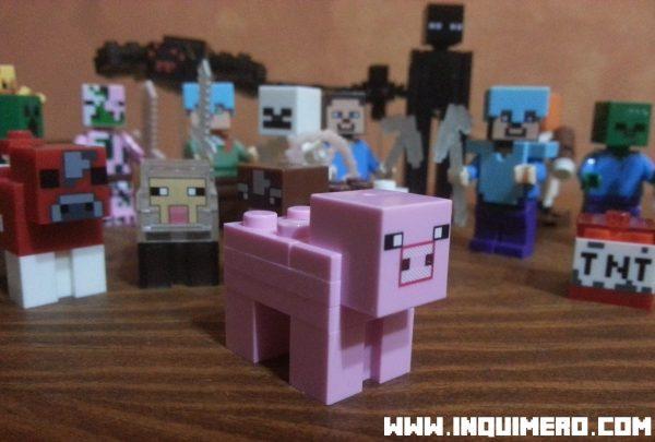 cerdo lego minecraft